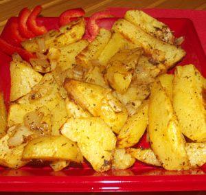 cartofi cu ceapa la cuptor