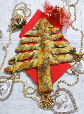 bradut aperitiv din foietaj