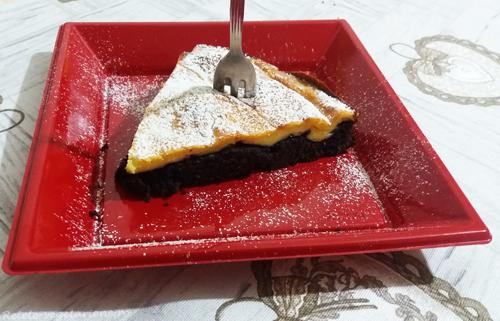 prajitura cu cacao si branza dulce