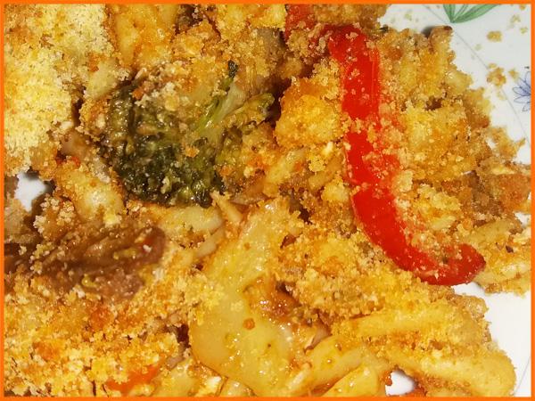 macaroane cu legume la cuptor